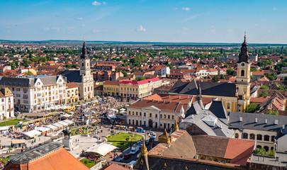 Oradea Unirii Square panorama