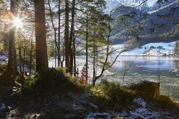 Winter am Hintersee, Ramsau