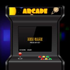Arcade machine screen, vector background