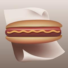 Hot dog - sandwich - fast food - saucisse - restauration rapide - moutarde