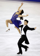 Maia Shibutani and Alex Shibutani of the U.S. perform during the Ice Dance event at the ISU Grand Prix of Figure Skating final in Barcelona