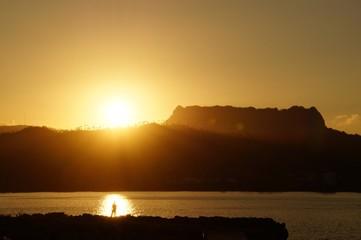 Fishing at sunset, Baracoa