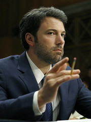 Ben Affleck twirls pencil at Senate Foreign Relations Committee in Washington