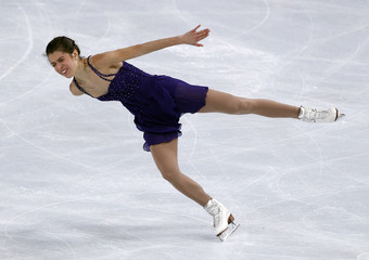 Czisny of the US performs during the ladies free program in the Bompard Trophy event at Bercy in Paris