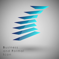 Abstract Icon template.Business and Innovaion Concept. Vector and Illustration, EPS 10