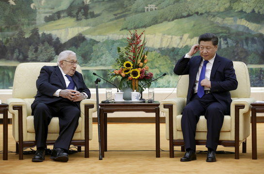 Xi holds talks with Kissinger during a meeting at the Great Hall of the People in Beijing