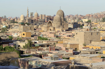A general view of the necropolis El'arafa, a cemetery located in the City of the Dead, near Cairo