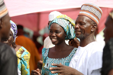 One of the newly released 82 Chibok school girls reunites with her family in Abuja