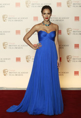 U.S. actress Jessica Alba poses for photographers at BAFTA award ceremony at the Royal Opera House in London