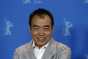 Director Chen poses during photocall to promote movie 'Zhao Shi Gu Er' at 61st Berlinale International Film Festival in Berlin