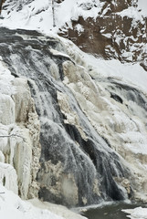 Gibbon Falls, Winter, Yellowstone NP