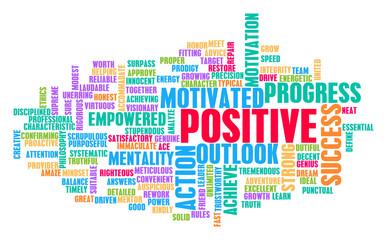 Positive Word Cloud Concept