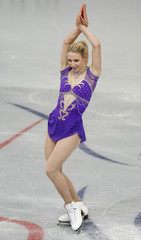 Zawadzki of the U.S. performs during the ladies short program at the ISU Grand Prix of Figure Skating Rostelecom Cup in Moscow