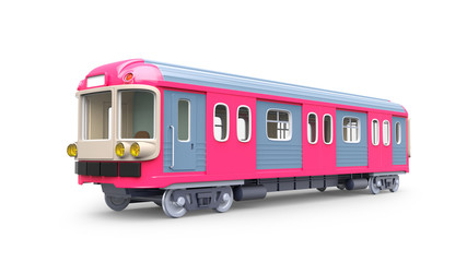 subway train pink
