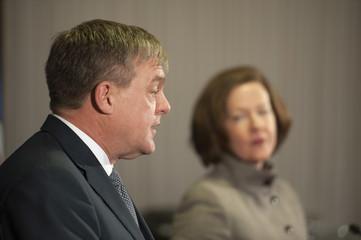 New Brunswick Premier David Alward meets with Alberta Premier Alison Redford in Calgary