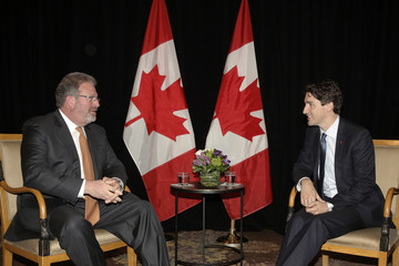 Canadian PM Trudeau meets with Thomson Reuters CEO Smith in New York