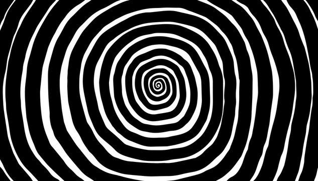Illustration spiral, background. Hypnotic, dynamic vortex.