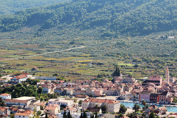 View to Starigrad, a town at Hvar island