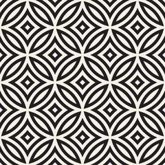 Vector Seamless Black And White Geometric Lines Pattern. Abstract Geometric Background Design - 154335836