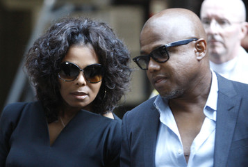 Janet and Randy Jackson leave court after the opening day of Dr. Conrad Murray's trial in the death of pop star Michael Jackson in Los Angeles