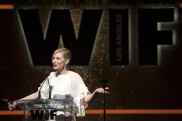 Actress Blanchett accepts the Crystal Award for Excellence in Film at the Women In Film Los Angeles 2014 Crystal + Lucy Awards in Century City, California