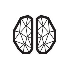 Thin line brain icon