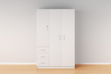 Closed wardrobe isolated
