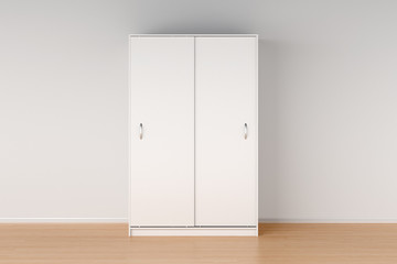 Wardrobe with closed sliding doors