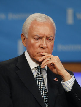 U.S. Senator Orrin Hatch, ranking member of the Senate Committee on Finance, takes part in the 2011 The Milken Institute Global Conference in Beverly Hills