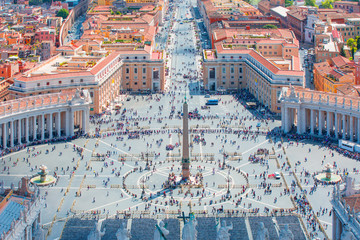 Saint Peter's Square in Vatican - Rome, Italy