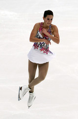 Marais of South Africa performs during the ladies free skating competition at the ISU Four Continents Figure Skating Championships in Taipei
