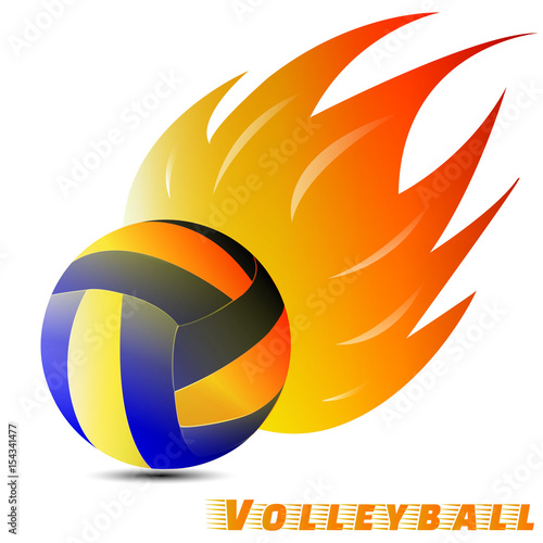 volleyball ball with red orange yellow tone of the fire in white rh fotolia com volleyball shirt designs graphic edge volleyball logos designs