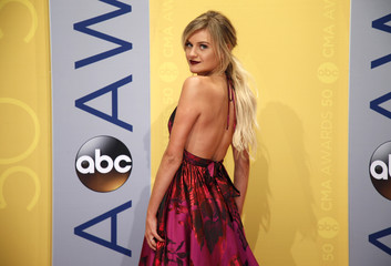 Singer Kelsea Ballerini arrives at the 50th Annual Country Music Association Awards in Nashville