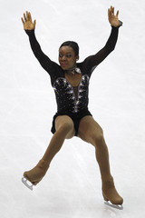 Silete of France performs during the women's short program at the ISU World Figure Skating Championships in Nice