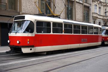 Tram in Prague, Czech Republic