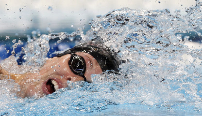 Schmitt swims her women's 200m freestyle heat during the U.S. Olympic swimming trials in Omaha