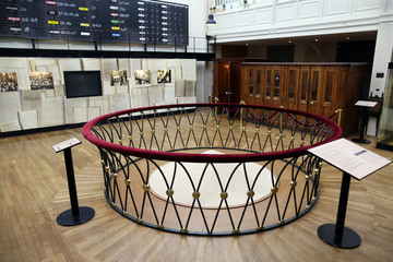 The former broker's ring is seen inside the Palais Brongniart, former Paris Stock Exchange, at the place de la Bourse in Paris