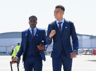 England Team Depart