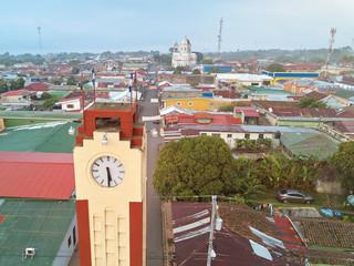 Clock tower in Diriamba town