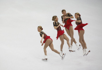 Cesario performs during the ladies free skating program competition at the ISU Four Continents Figure Skating Championships in Seoul