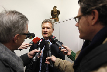 Scheurer head of information of the Bern Office of Public Prosecutor speaks to media after a news conference on sexual abuse in Bern