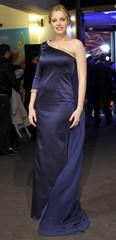 "Cast member Carolina Herrera Bang poses as she arrives for the screening of the movie ""La Chispa de la Vida"" in Berlin"
