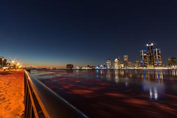 Detroit Skyline bei Nacht