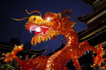 A dragon lantern is seen at Yuyuan Garden in downtown Shanghai