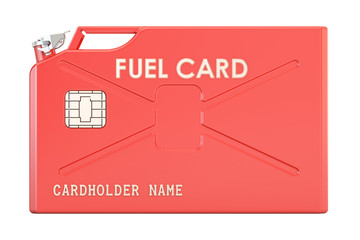 Fuel card from jerrycan, 3D rendering
