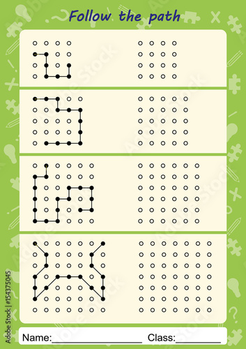 visual perceptual worksheets follow the path copy pattern stock photo and royalty free. Black Bedroom Furniture Sets. Home Design Ideas