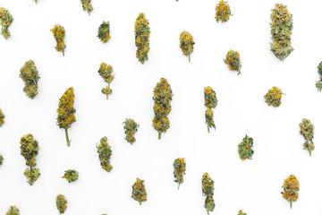 Cannabis. Flat lay