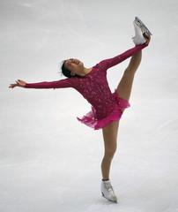 Asada of team Japan performs during the ladies' singles short program during China ISU Grand Prix of Figure Skating, in Beijing
