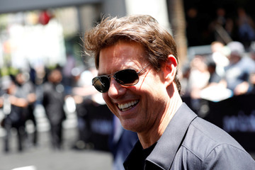 """Actor Tom Cruise attends an event to promote the film """"The Mummy"""" at the Hollywood and Highland gateway in Hollywood"""