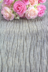 Color of artificial flowers for background.